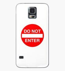 Do Not Enter Street Sign Case/Skin for Samsung Galaxy