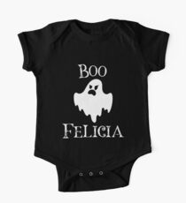 Spooky Halloween Boo Felicia Funny Sarcastic Ghost White Silhouette Art Graphics Design Kids Clothes