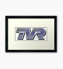 TVR Logo Colorful Framed Print