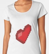 Isometric Heart Women's Premium T-Shirt