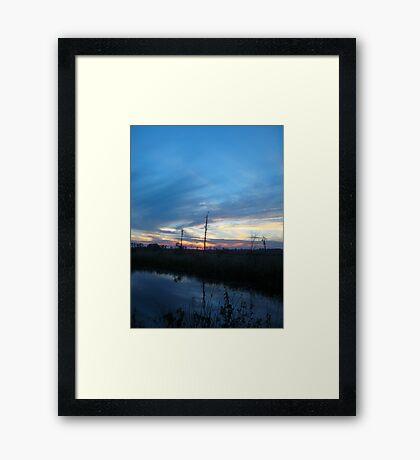 Blue Sky Smilin' at Me (OK so it was sundown) Framed Print