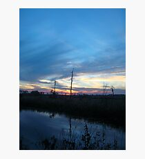 Blue Sky Smilin' at Me (OK so it was sundown) Photographic Print