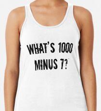 Camiseta con espalda nadadora ¿Qué es 1000 Minus 7? [Tokyo Ghoul] [Style One]