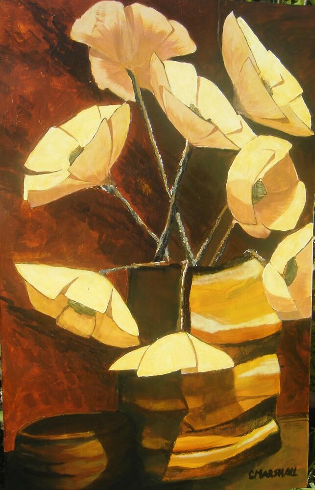 Retro autumn flowers by Gary Marshall