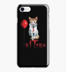 Kitten Clown Scary Fun Spooky Halloween Cat Funny Joke Design iPhone Case/Skin