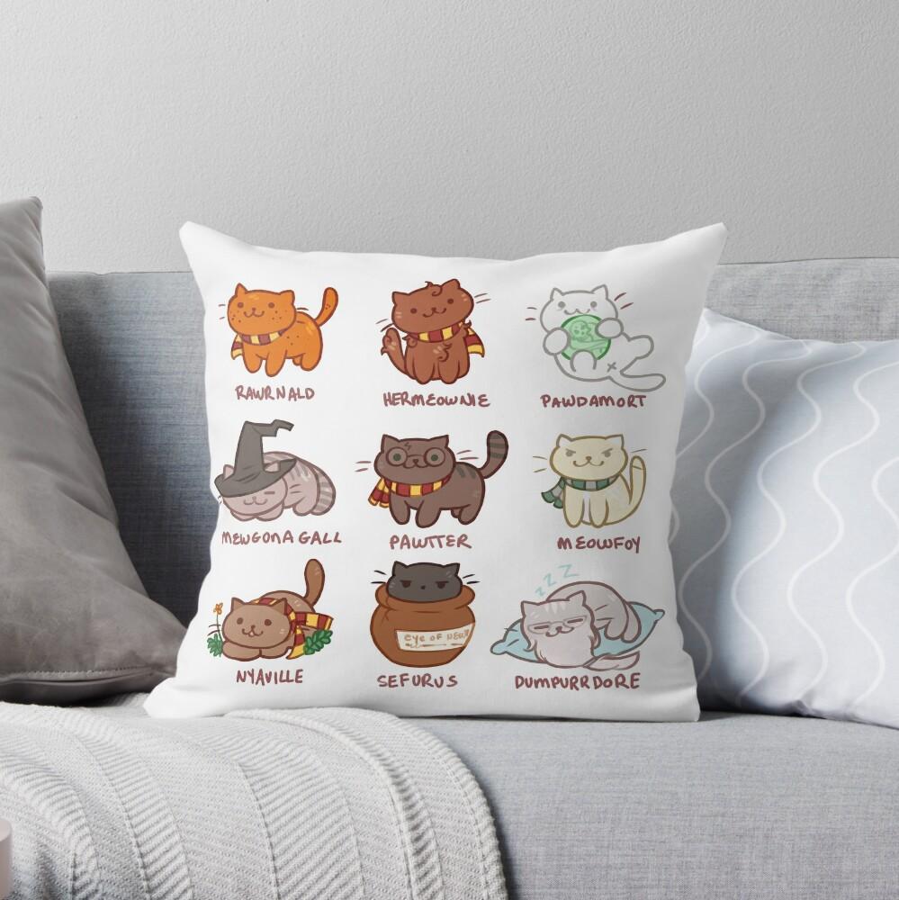 Hairy Pawtter Throw Pillow