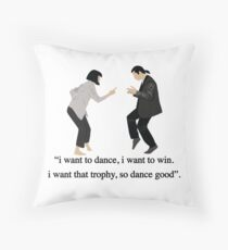 Pulp Fiction - I Want to Dance Throw Pillow