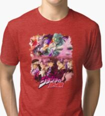 JoJo's Bizarre Adventure - Stardust Crusaders Japanese Logo Tri-blend T-Shirt