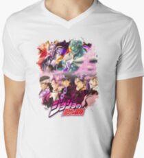JoJo's Bizarre Adventure - Stardust Crusaders Japanese Logo Men's V-Neck T-Shirt