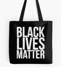 Schwarz lebt Materie Tote Bag