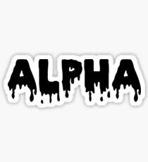 Alpha (Tropf) Sticker