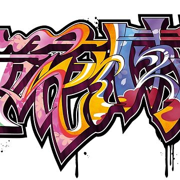 Japanese KANJI Graffiti OUKARANMAN by TurkeysDesign