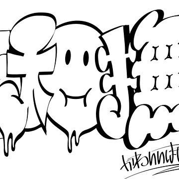 Japanese KANJI Graffiti YAMATONADESHIKO by TurkeysDesign