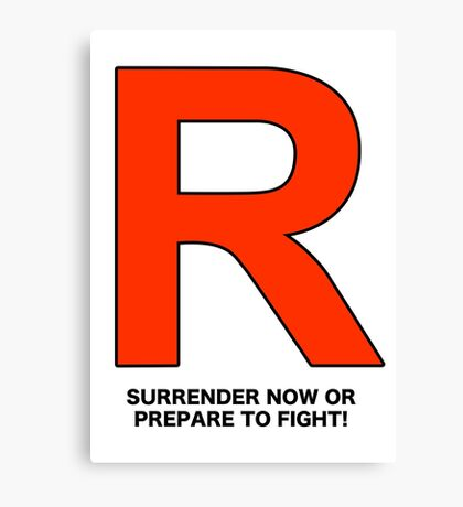 Team Rocket (Surrender Now or Prepare to Fight!) Canvas Print