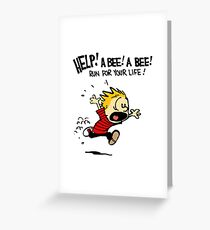 Help Me...A Bee.. Greeting Card