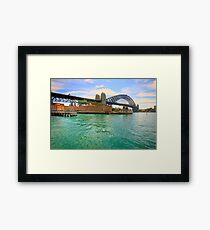 The Crossing - The Rocks - The HDR Series Framed Print