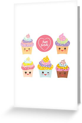 Yummy cupcakes bithday by EkaterinaP
