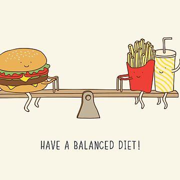 balanced diet by Milkyprint