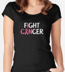 Fight Cancer - October breast cancer awareness Women's Fitted Scoop T-Shirt