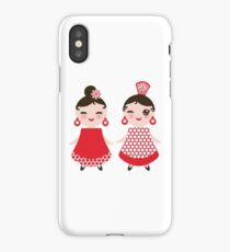 Flamenco girls iPhone Case/Skin