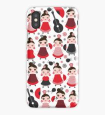 Flamenco girls with fans and guitars iPhone Case/Skin