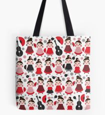 203d4fc678 Flamenco girls with fans and guitars Tote Bag
