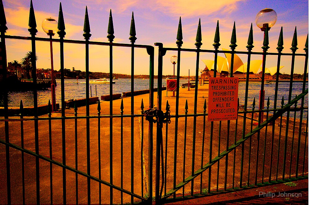 Don't Fence Me In - The Rocks - The HDR Series by Philip Johnson