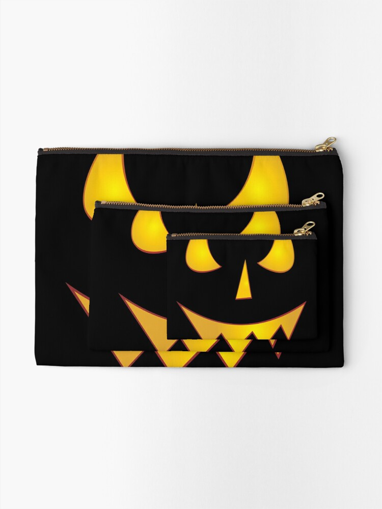 Alternate view of Jack-O-Laughing! Evil Pumpkin Face Zipper Pouch