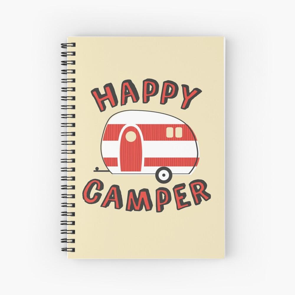 Glücklicher Camper Spiralblock