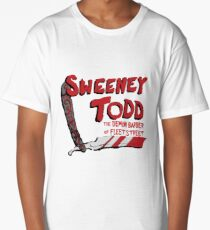 Sweeney Todd Title Print Long T-Shirt