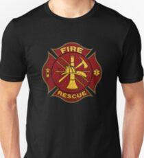 Firefighter Diamond Plate Design Unisex T-Shirt