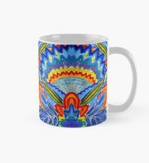 Hand-Painted Abstract Botanical Pattern Brilliant Blue Orange Mug