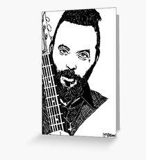 Justin Furstenfeld-Blue October Sharpie Drawing Greeting Card