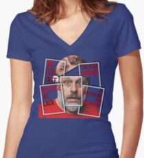 The Real of S.Zizek Fitted V-Neck T-Shirt