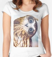 Big Owl Eyes!  Women's Fitted Scoop T-Shirt