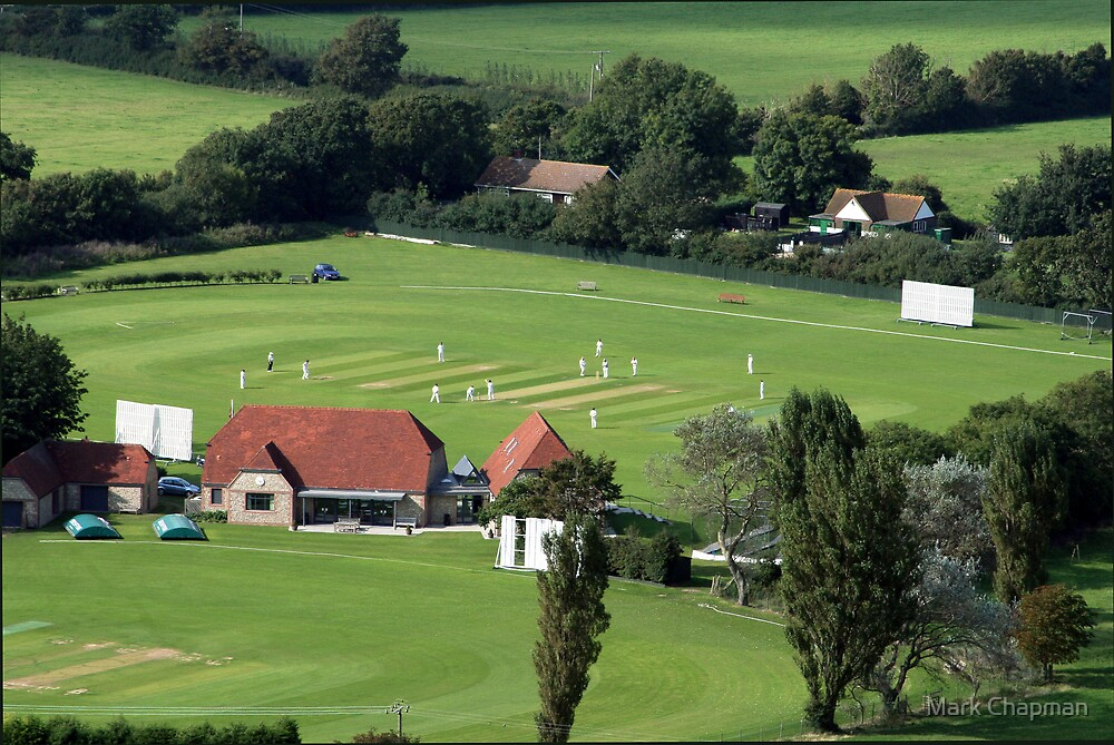 Sunday afternoon cricket by Mark Chapman