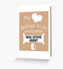 Real estate agent greeting cards redbubble real estate agent lover awesome surprise gift my heart belongs cool cute birthday present m4hsunfo