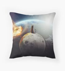 Cat Victory Throw Pillow