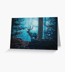 Blue Forest Greeting Card
