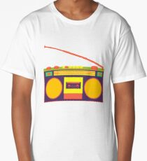 boombox - old cassette - Devices Long T-Shirt