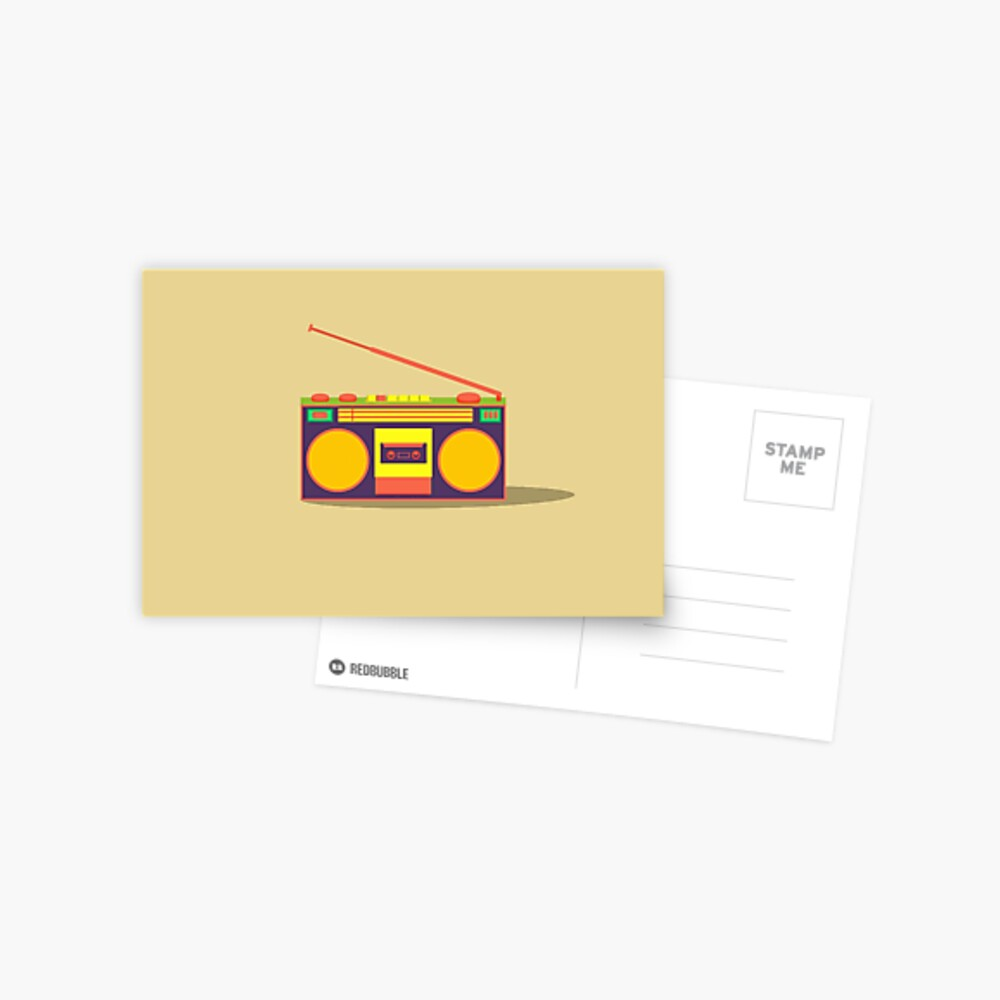 boombox - old cassette - Devices Postcard