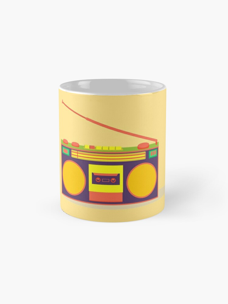 Alternate view of boombox - old cassette - Devices Mug