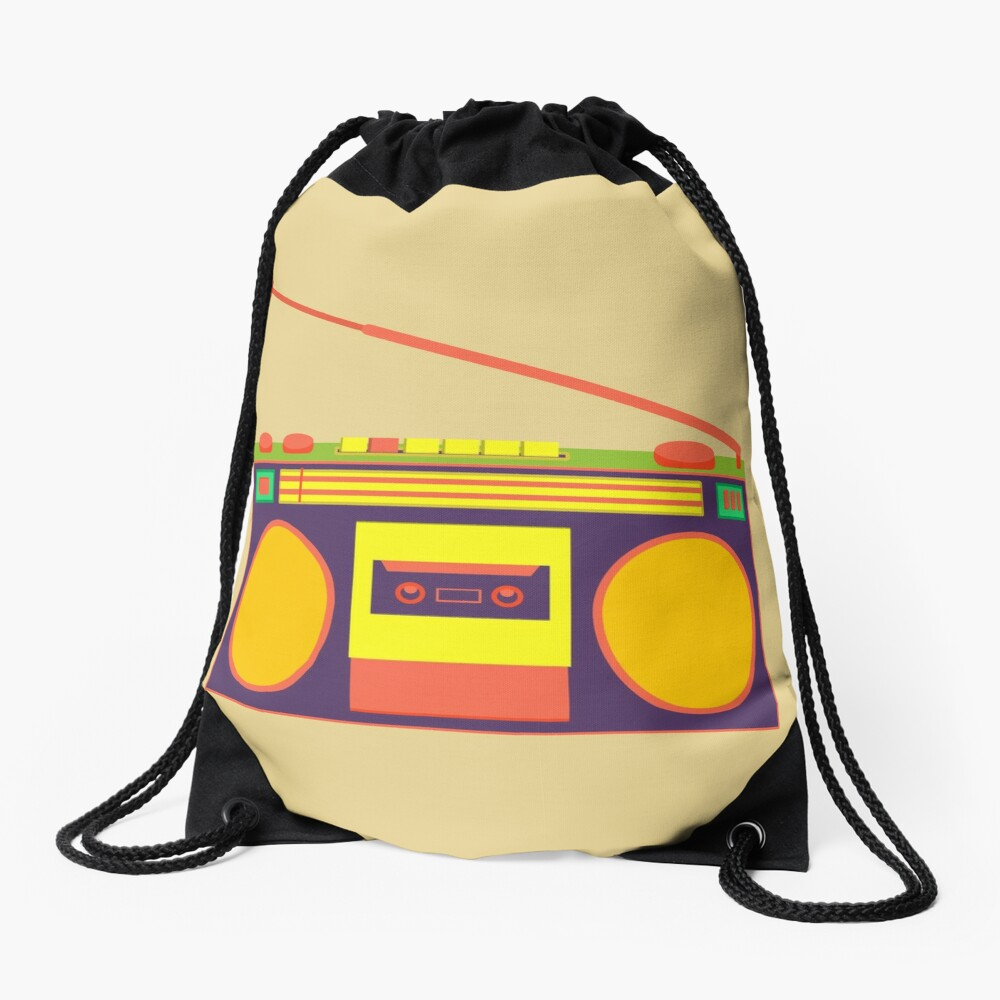 boombox - old cassette - Devices Drawstring Bag