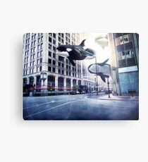 City of whales Metal Print