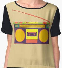 boombox - old cassette - Devices Chiffon Top
