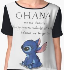 Ohana Means Family Chiffon Top