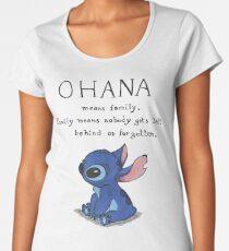Ohana Means Family Women's Premium T-Shirt