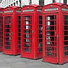 Red telephone boxes by alan tunnicliffe