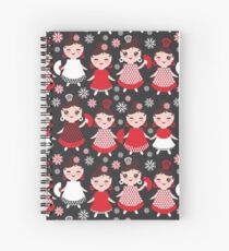 Flamenco dancers on black Spiral Notebook