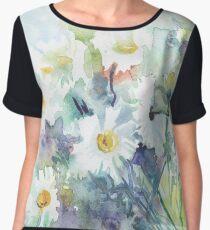Watercolour daisies Chiffon Top